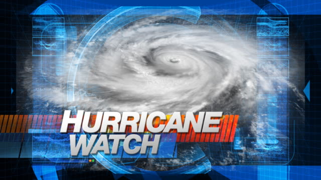 stockvideo's en b-roll-footage met hurricane watch - title graphics - meteorologie