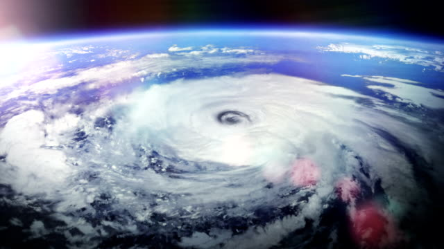 stockvideo's en b-roll-footage met hurricane. with flares. - meteorologie