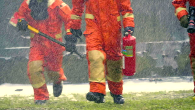 hurry fire fighter - rescue worker stock videos and b-roll footage