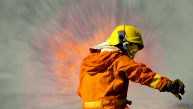 hurry fire fighter - extinguishing stock videos & royalty-free footage