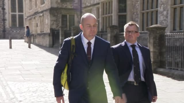 husband accused of tampering with wife's parachute goes on trial england hampshire winchester winchester crown court emile cilliers arriving at court - parachute stock videos & royalty-free footage