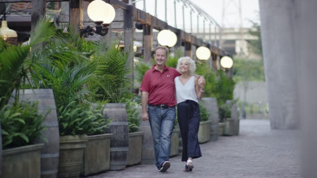 husband and wife on a date - human age stock videos & royalty-free footage