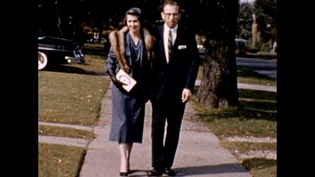 1957 Husband and Wife on a Walk