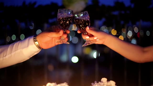 husband and wife toasts for anniversary marriage,b roll