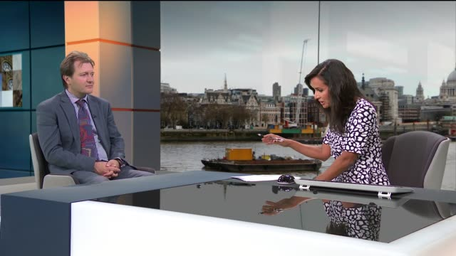 husband of nazanin zaghariratcliffe reacts to boris johnson's resignation as foreign secretary england london gir int richard ratcliffe live studio... - 辞職点の映像素材/bロール