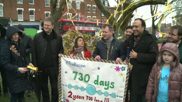 husband of nazanin zaghariratcliffe urges boris johnson to prioritise his wife's case in iran talks t020418009 / tx richard ratcliffe and tulip... - richard ratcliffe video stock e b–roll