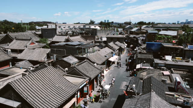 hutong alley in beijing - hutong alley stock videos & royalty-free footage