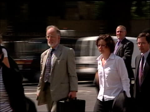 Day 1 Westminster Dr David Kelly walking along as arrives to give evidence at Foreign Affairs select committee