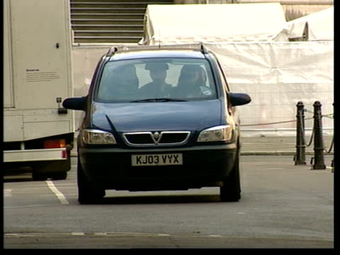 hutton inquiry into kelly's death widow's evidence london janice kelly being driven away after giving evidence zoom - widow stock videos and b-roll footage