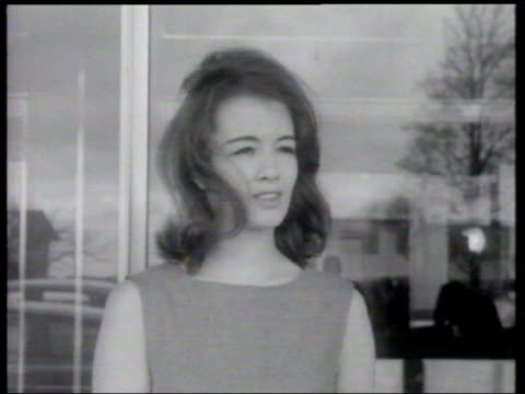 tony blair gives evidence historical precedents b/w christine keeler mandy ricedavies walking along 1963 ends - mandy rice davies stock videos & royalty-free footage
