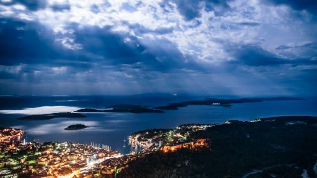 Hvar city at night, Hvar island, Dalmatia, Croatia