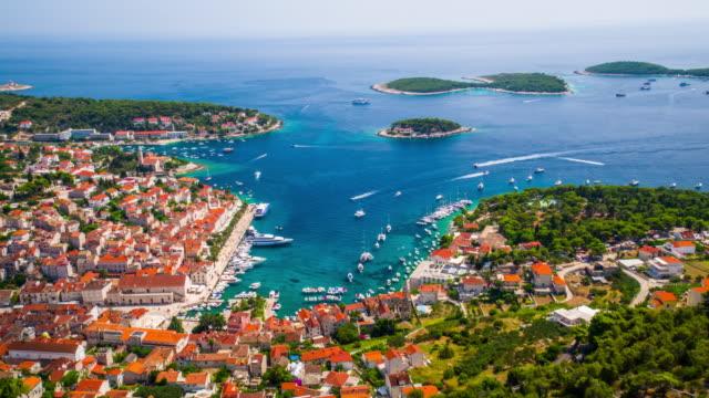 AERIAL: Hvar Town, Croatia