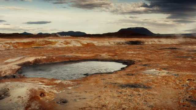 hverarond geothermal area. hissing steam vents - sulphur stock videos & royalty-free footage