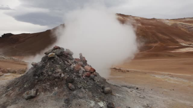 Hverarond Geothermal Area Iceland hissing steam vents Mount Namaskard