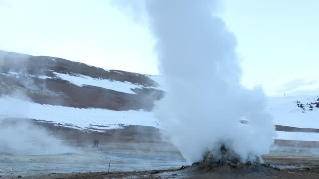 Hverir de geothermisch gebied het Myvatn, IJsland Krafla