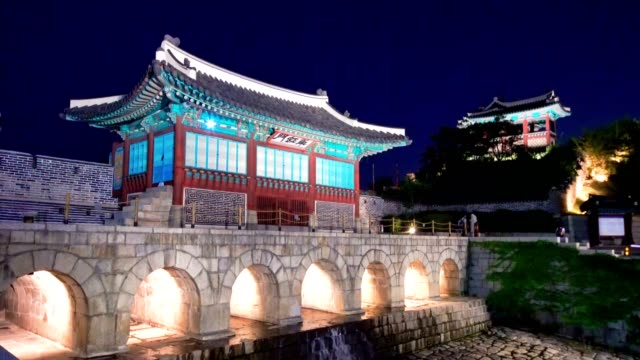 hwaseong fortress in suwon, south korea. - suwon stock videos and b-roll footage