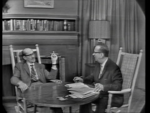 hy gardner talks to groucho marx about practical jokes. - television show stock videos & royalty-free footage