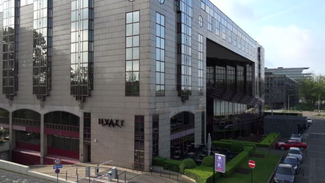hyatt hotel, cologne, north rhine westphalia, germany - hyatt stock videos & royalty-free footage