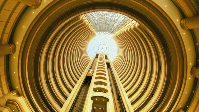 t/l, ms, la, hyatt hotel elevators, santiago, chile - repetition stock videos and b-roll footage