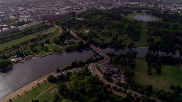 Hyde Park  - Aerial View - England, United Kingdom
