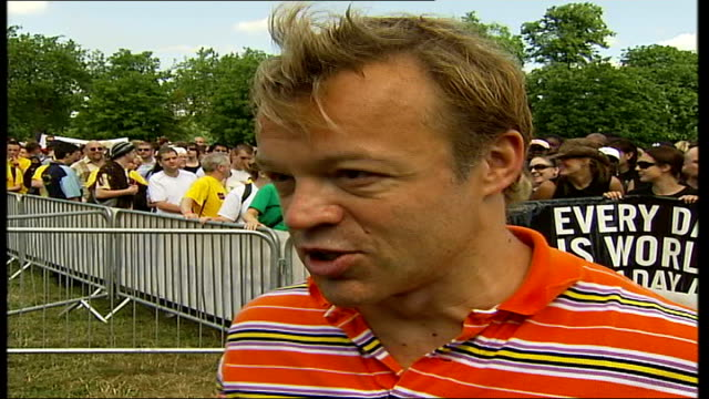 hyde park sponsored walk for people living with hiv and aids graham norton interview sot talks about the good news that aids is not now the death... - sentencing stock videos & royalty-free footage