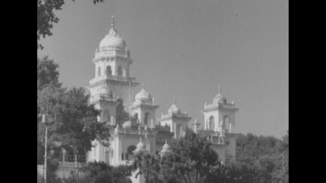Hyderabad town hall seen through trees / Note exact day not known