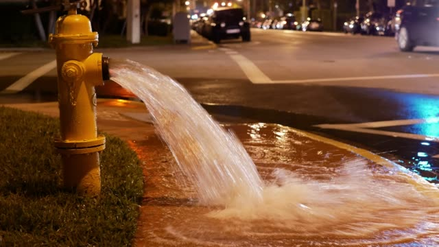 hydrant and leaking water in miami, usa - fire hydrant stock videos & royalty-free footage