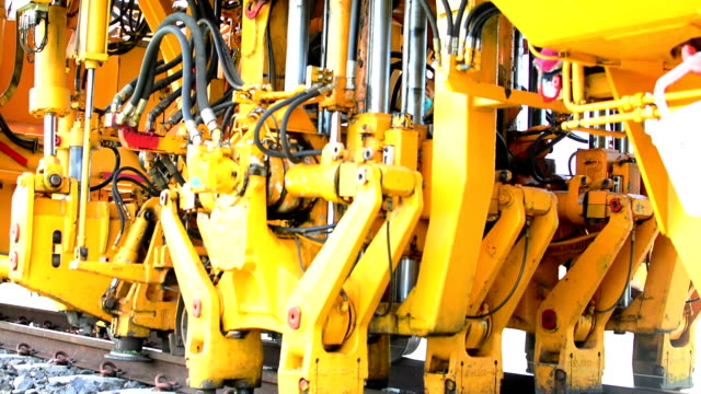 hydraulic machines work. - hydraulics stock videos and b-roll footage
