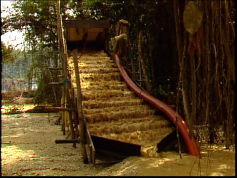 a hydraulic sluice in an amazon gold mine - roraima state stock videos and b-roll footage