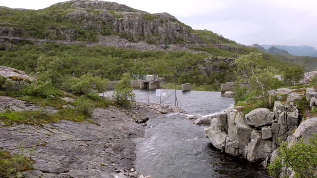 hydro power station in mountainside - dam stock videos and b-roll footage
