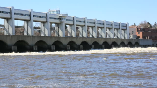 hydroelectric power dam station, montreal, quebec - renewable energy stock videos and b-roll footage