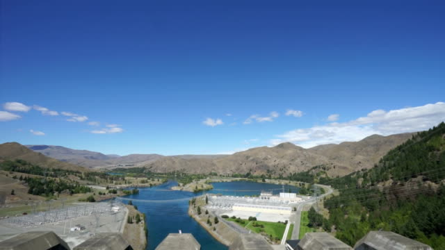 hydroelectric power station in new zealand - hydroelectric power stock videos and b-roll footage