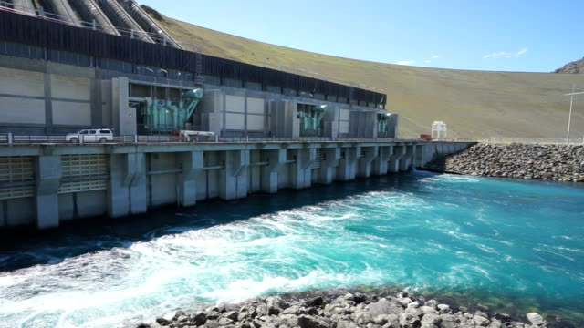 hydroelectric power station in new zealand - power station stock videos & royalty-free footage