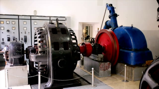 hydroelectric turbine.rotor and stator system - motor video stock e b–roll