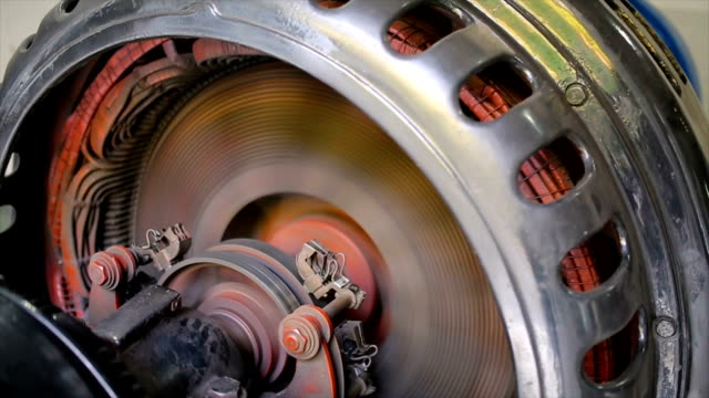 hydroelectric turbine.rotor and stator system - motore video stock e b–roll