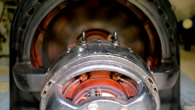 hydroelectric turbine.rotor and stator system - motor stock videos & royalty-free footage