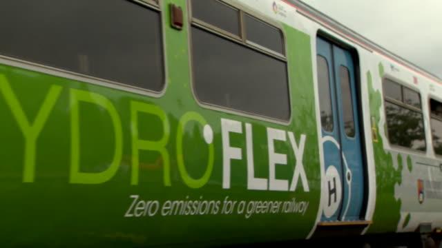 hydroflex train britian's first hydrogen fueled train on a test run - hydrogen stock videos & royalty-free footage