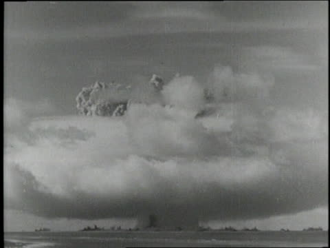 a hydrogen bomb explodes in the ocean - hydrogen bomb stock videos and b-roll footage