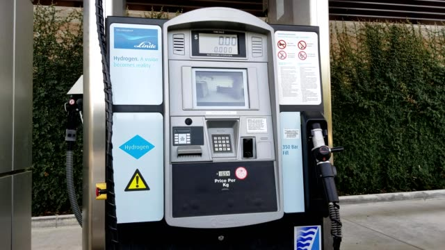 hydrogen dispensing fuel pump at a filling station for fuel cell hydrogen powered cars in san ramon california november 4 2018 - hydrogen stock videos & royalty-free footage