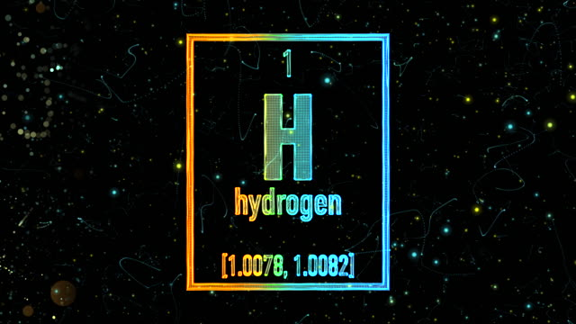 hydrogen symbol as in the periodic table - atom stock videos & royalty-free footage