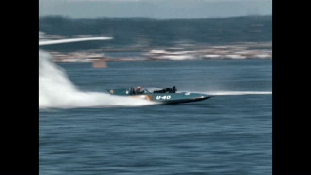 hydroplane races at the seafair trophy race world championship on the shores of lake washington - power boat stock videos & royalty-free footage