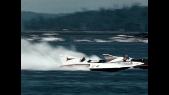 hydroplane races at the seafair trophy race world championship on the shores of lake washington - world championship stock videos and b-roll footage