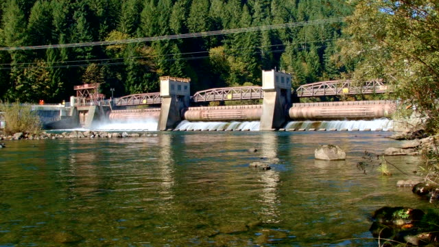 hydropower hydroelectric green energy 1 leaburg dam mckenzie river eugene oregon 130 - eugene oregon stock videos & royalty-free footage
