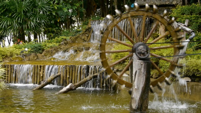 hydropower waterfall - water wheel stock videos and b-roll footage