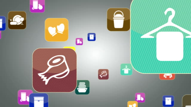 hygiene icon set - clothes peg stock videos & royalty-free footage