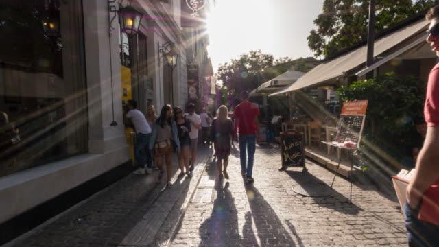 Hyper lapse along Monastiraki Promenade