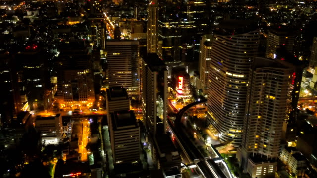4K Hyper Lapse : Bangkok Night City