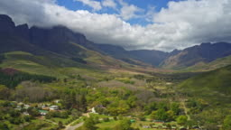 Hyper lapse in Jonkershoek Valley, Western Cape, South Africa