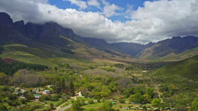 hyper lapse in jonkershoek valley, western cape, south africa - scenics nature stock videos & royalty-free footage