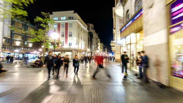 hyper lapse of downtown center of belgrade serbia - belgrade serbia stock videos and b-roll footage